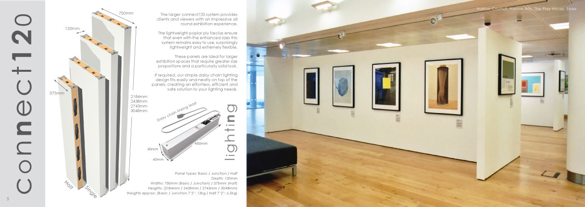 Gallery Display System  from the Connect Systems range.