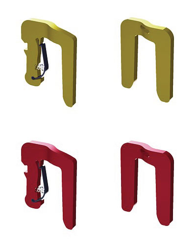 exhibition display stand, exhibition display stands, temporary - portable - movable  - 'Corner Clips' wall panel joining clip, used in art schools or art colleges.